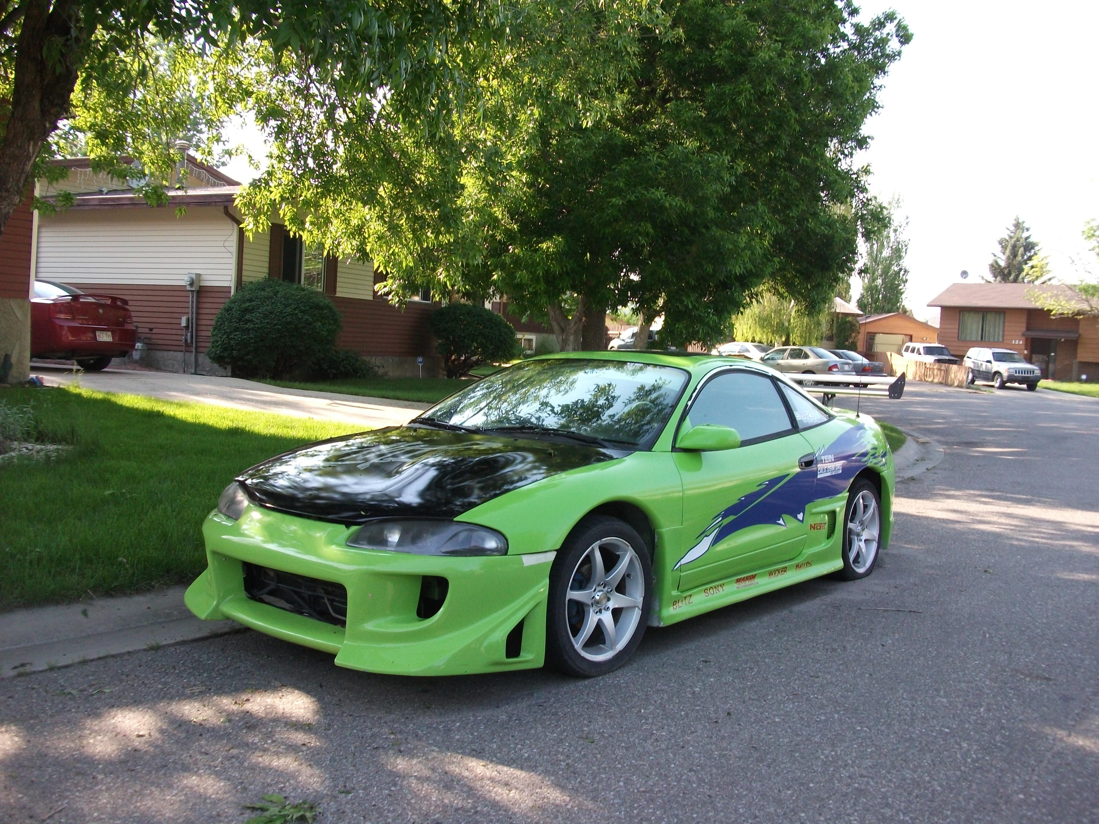 Lime Green Mitsubishi Eclipse