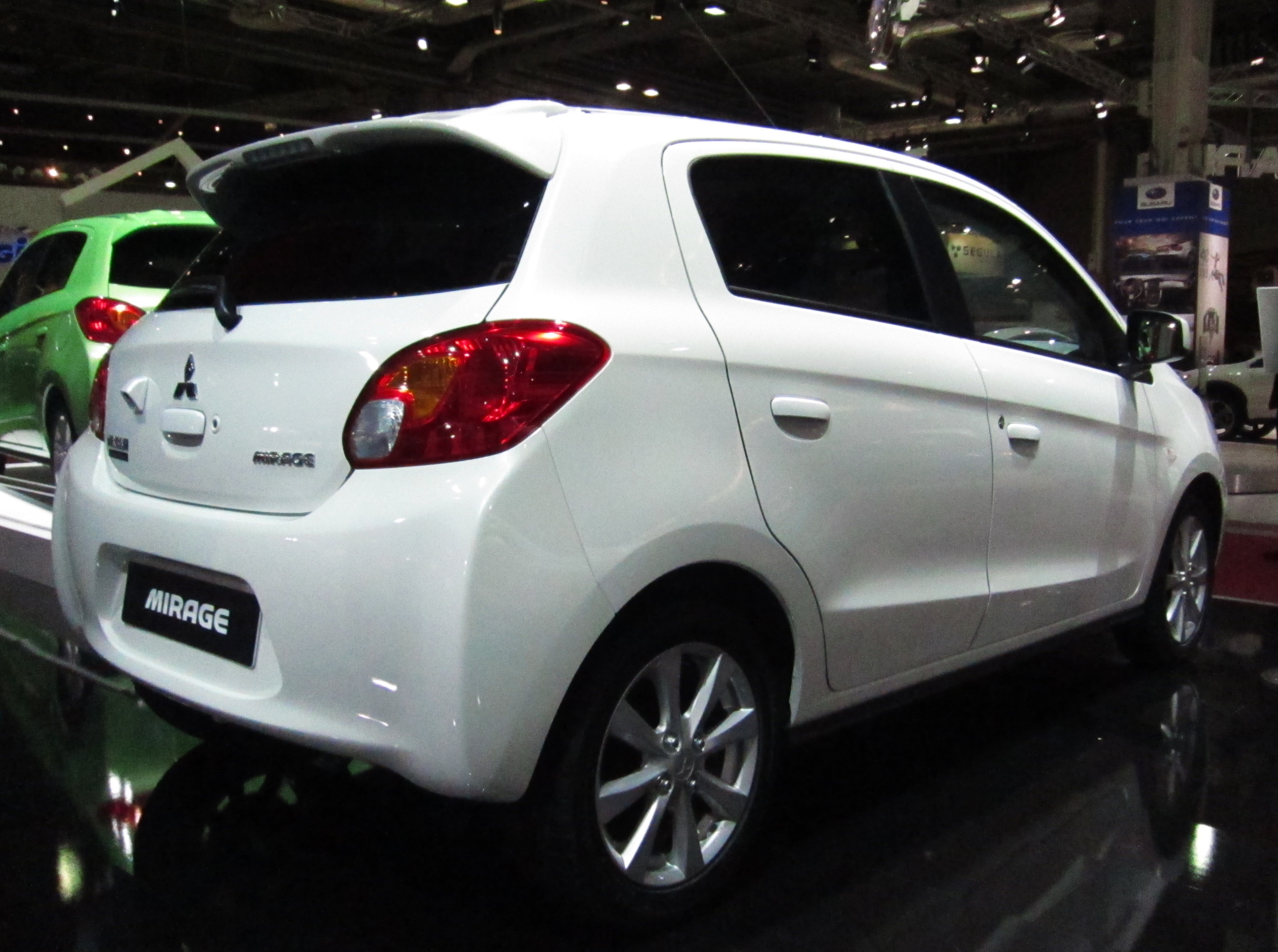 File:Mitsubishi Mirage (rear quarter) white.JPG - Wikimedia Commons