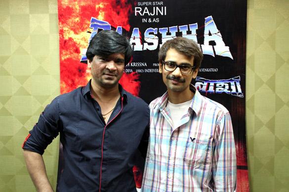 File:Narendra Singh,Rajnish Thakur From Audio release of 'Baashha' (2).jpg