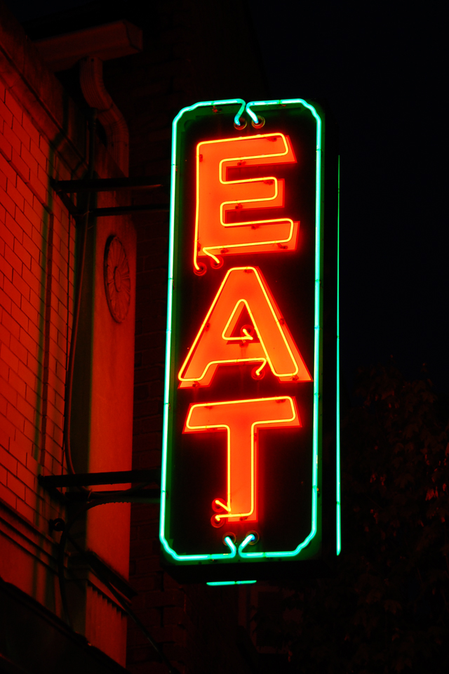 File Neon Sign Eat Jpg Wikimedia Commons
