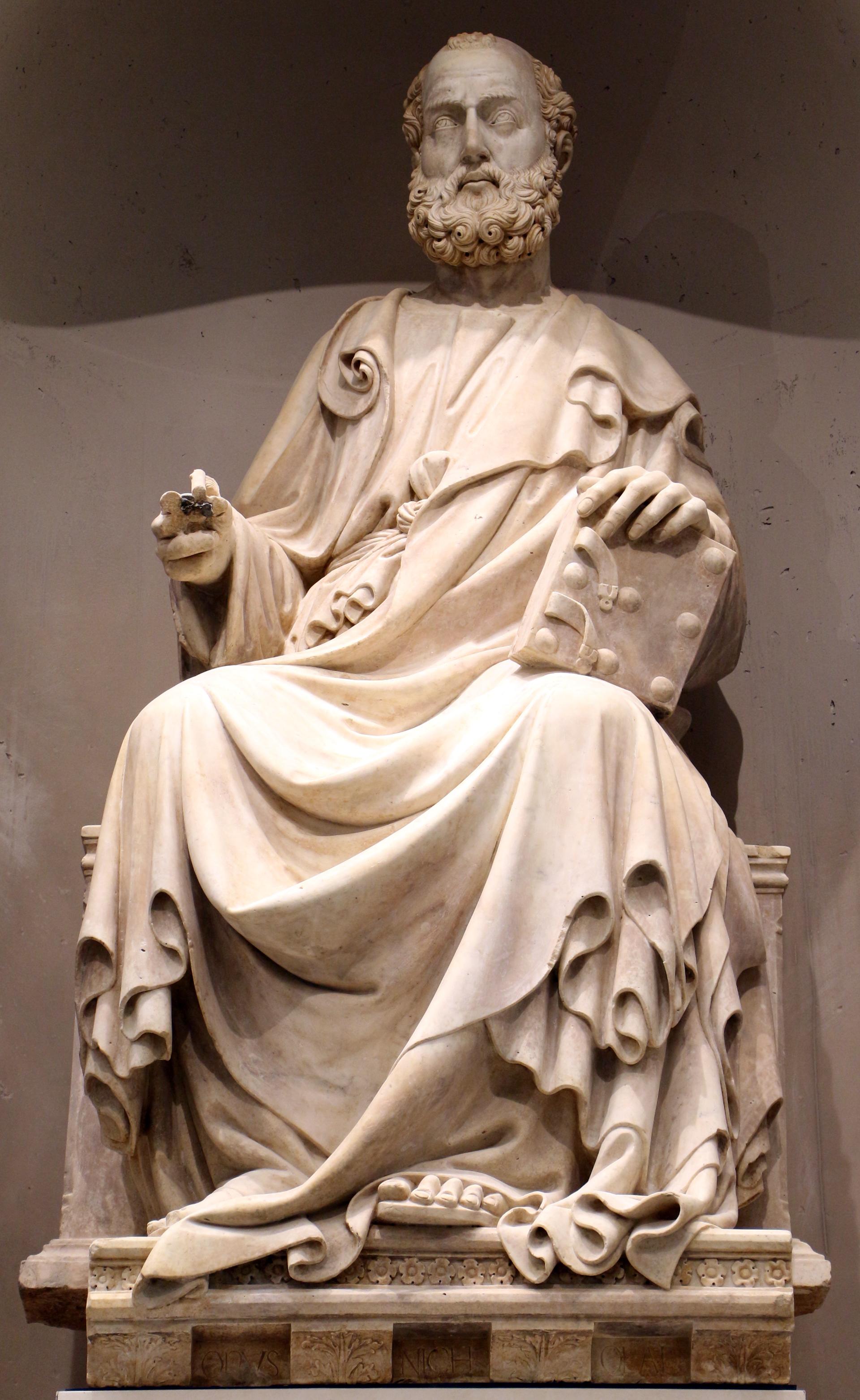 File:Niccolò di piero lamberti, san marco evangelista, 1408-1415, 01