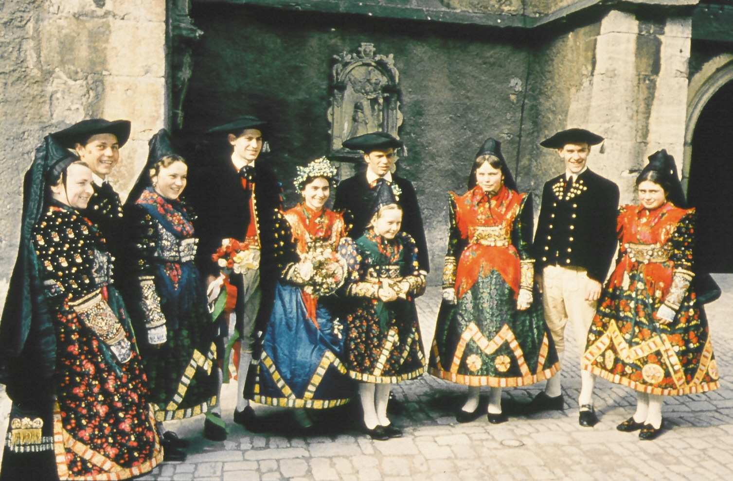 Ochsenfurt 1960, Family with Franconia Tracht