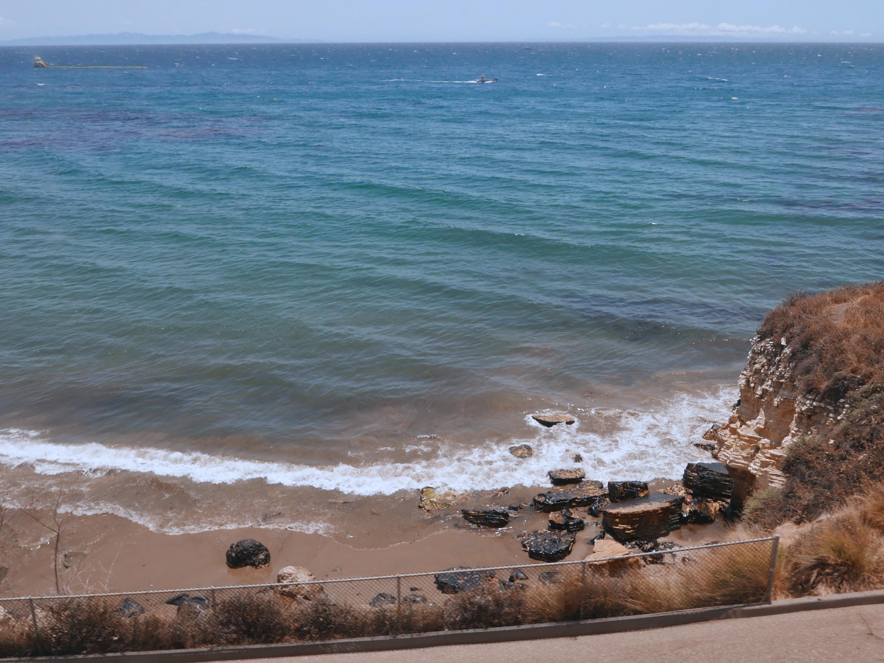 Oily rocks near Refugio State Beach on