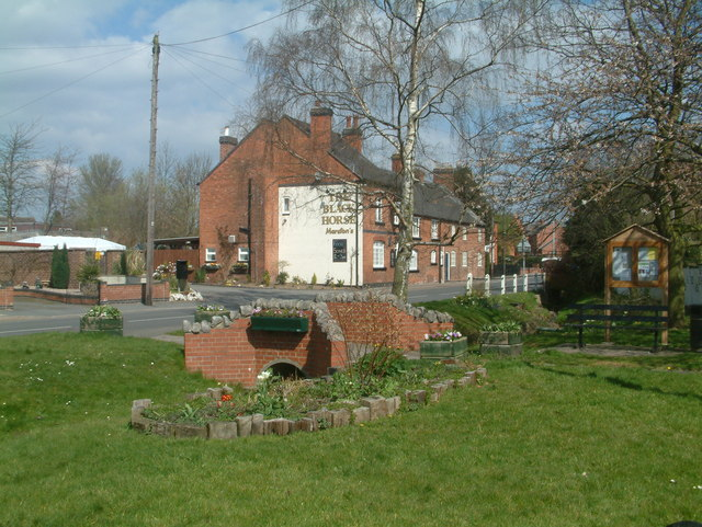 Creative Commons image of The Black Horse in Swadlincote