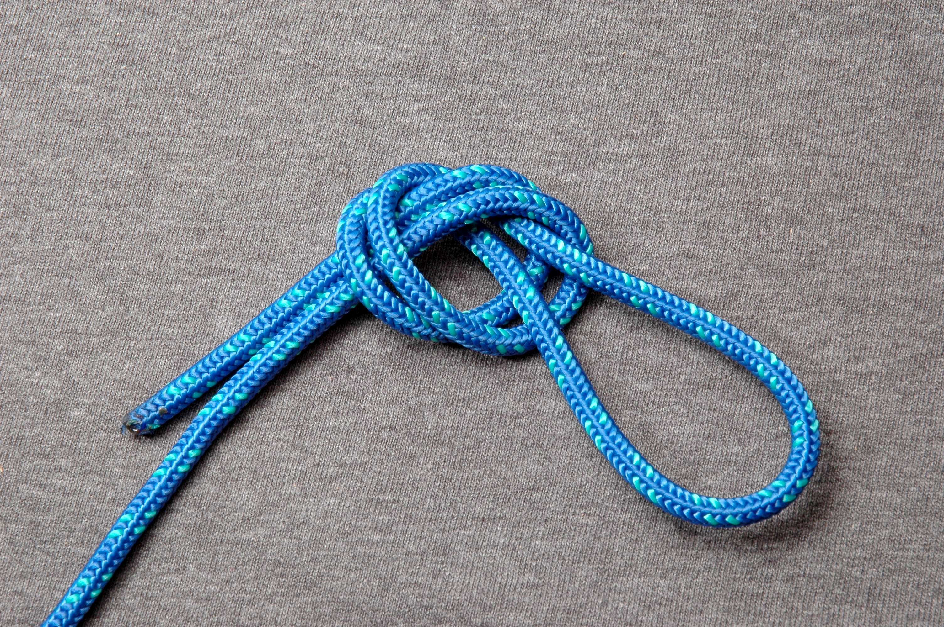 Overhand Loop Wikipedia Bowline Knot Diagram Of