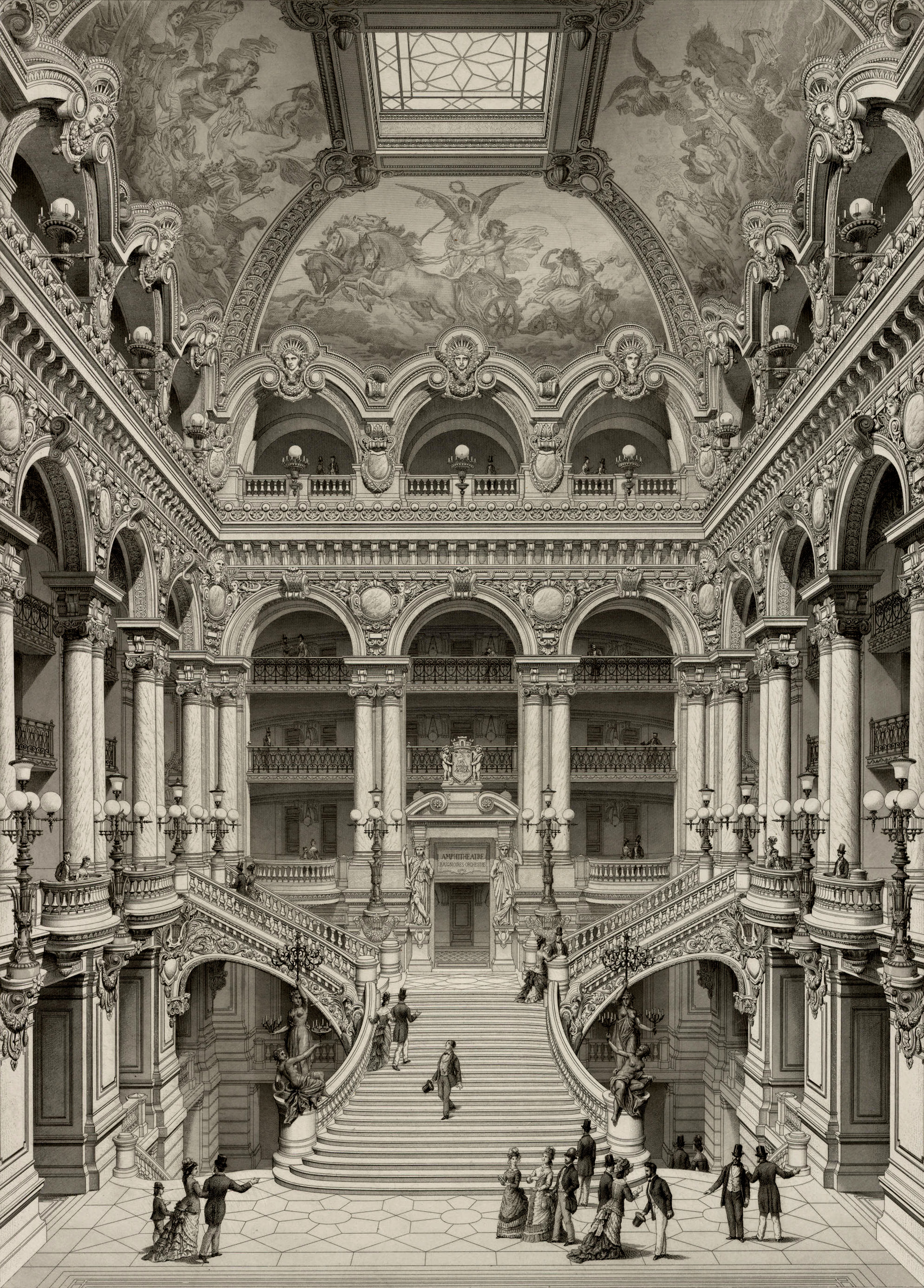 Op ra garnier for Salon d honneur grand palais