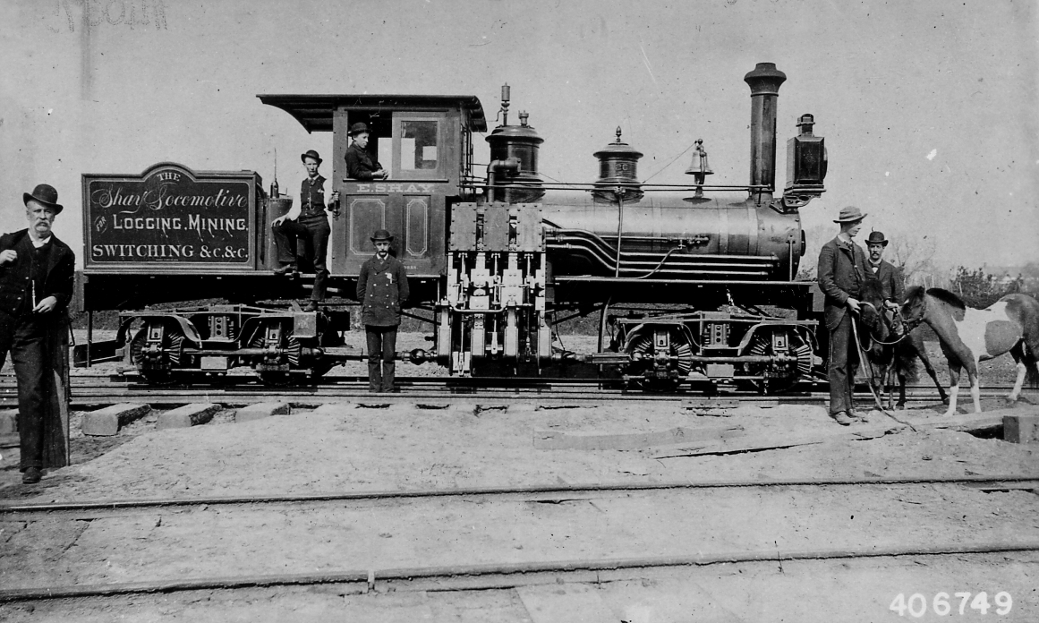 File Photograph Of Shay Locomotive For Logging Mining