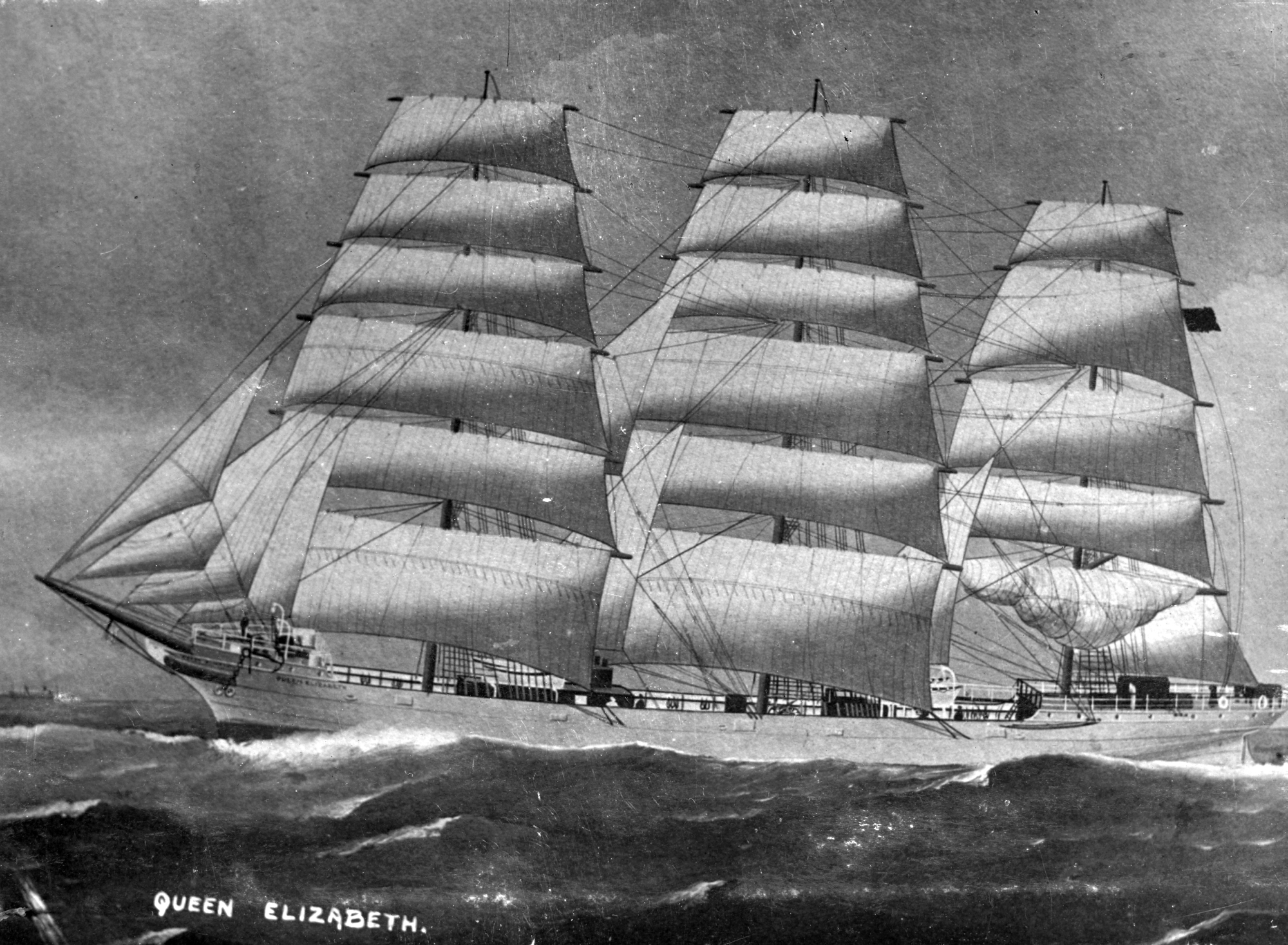 file queen elizabeth  ship  1890