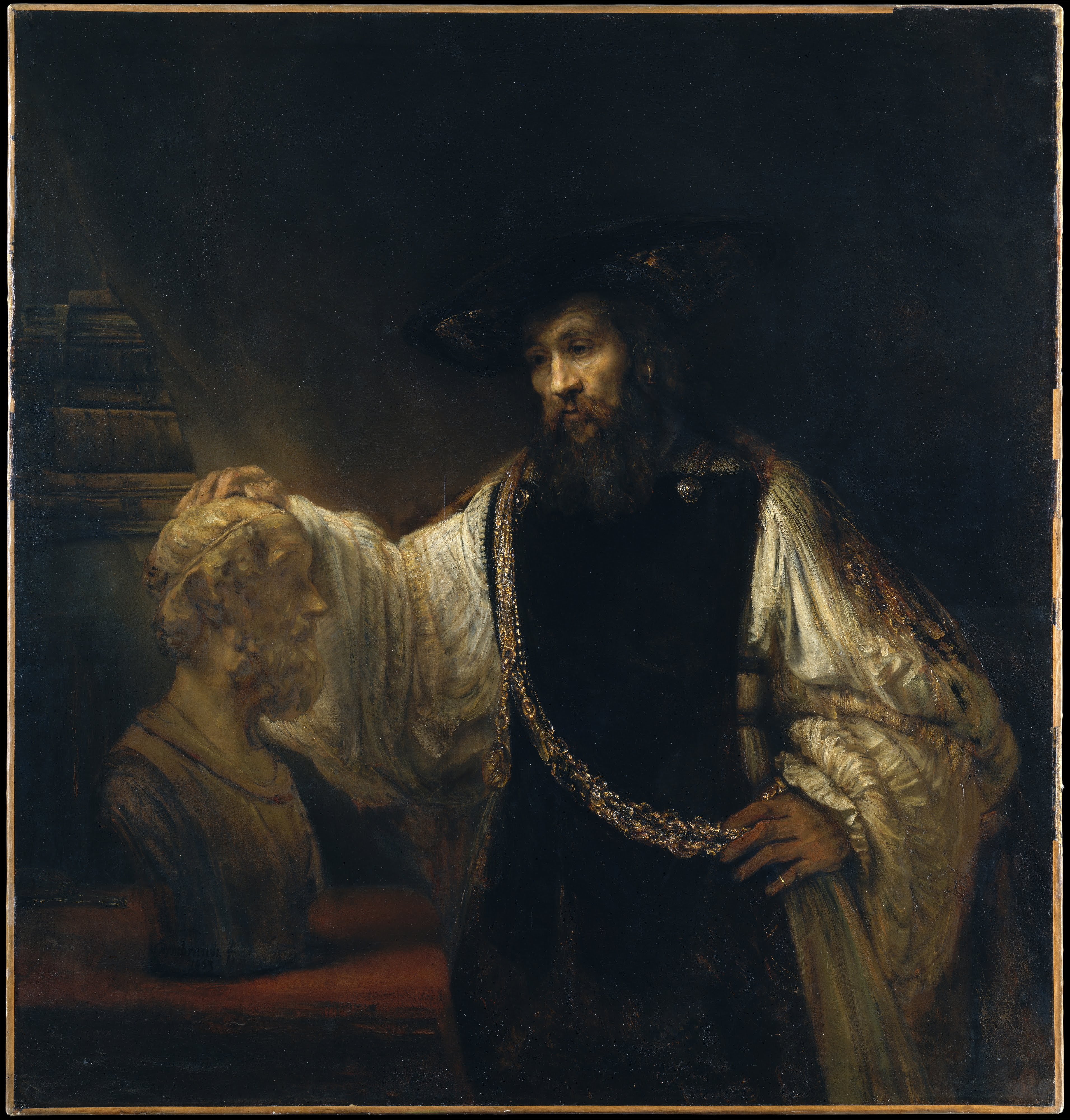 aristotle with a bust of homer essay Handmade oil painting reproduction of aristotle with a bust of homer by rembrandt - brushwizcom museum quality guaranteed + free shipping.
