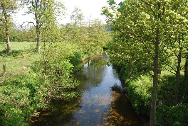River Derwent upstream from Wrench Green Bridge - geograph.org.uk - 1903397