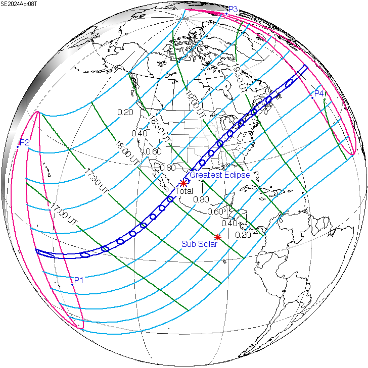 Eclipses Solares Mexico Solar Eclipse of April 8