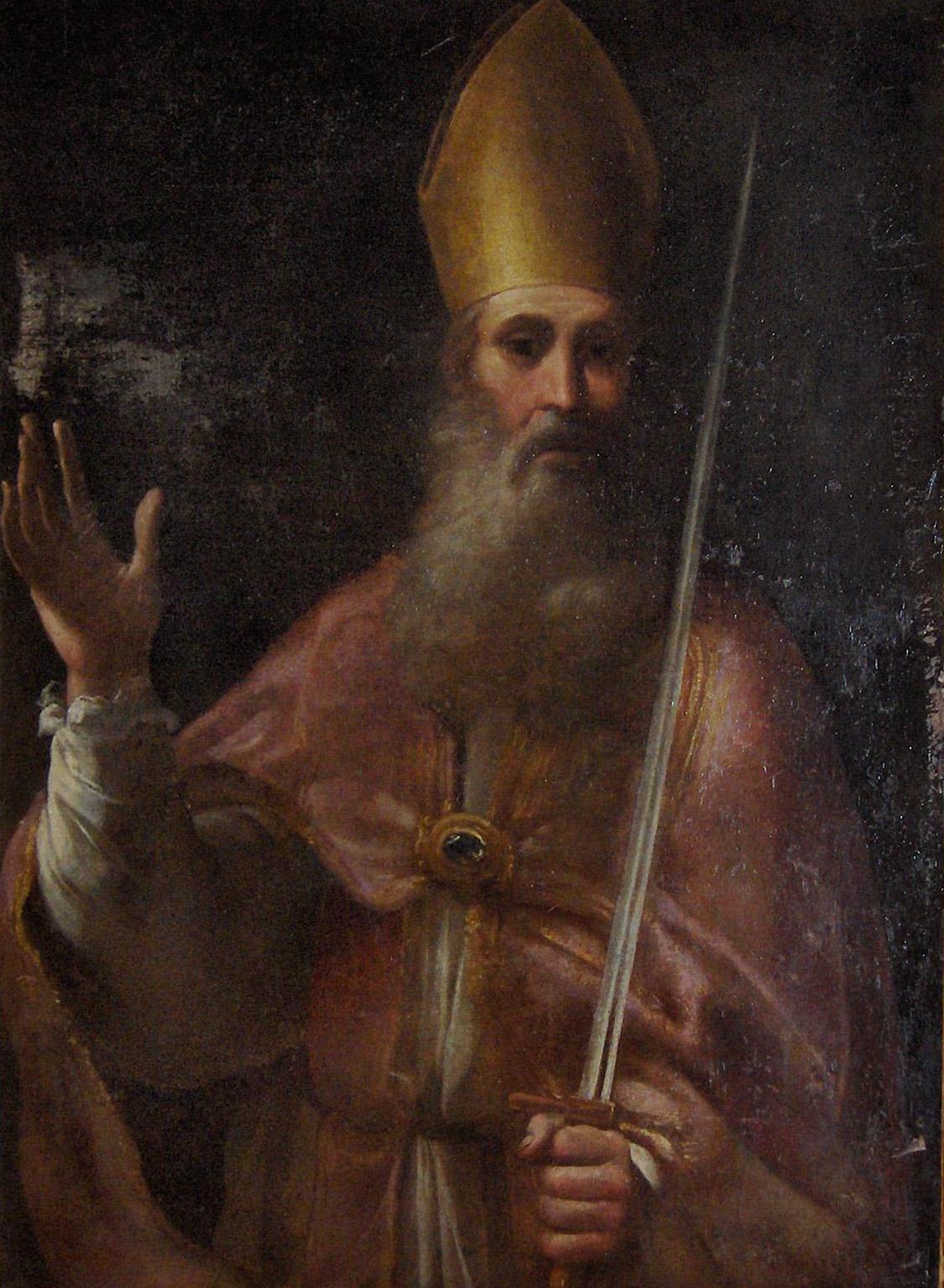 Den hellige Romulus av Genova, fra katedralen San Siro i Sanremo