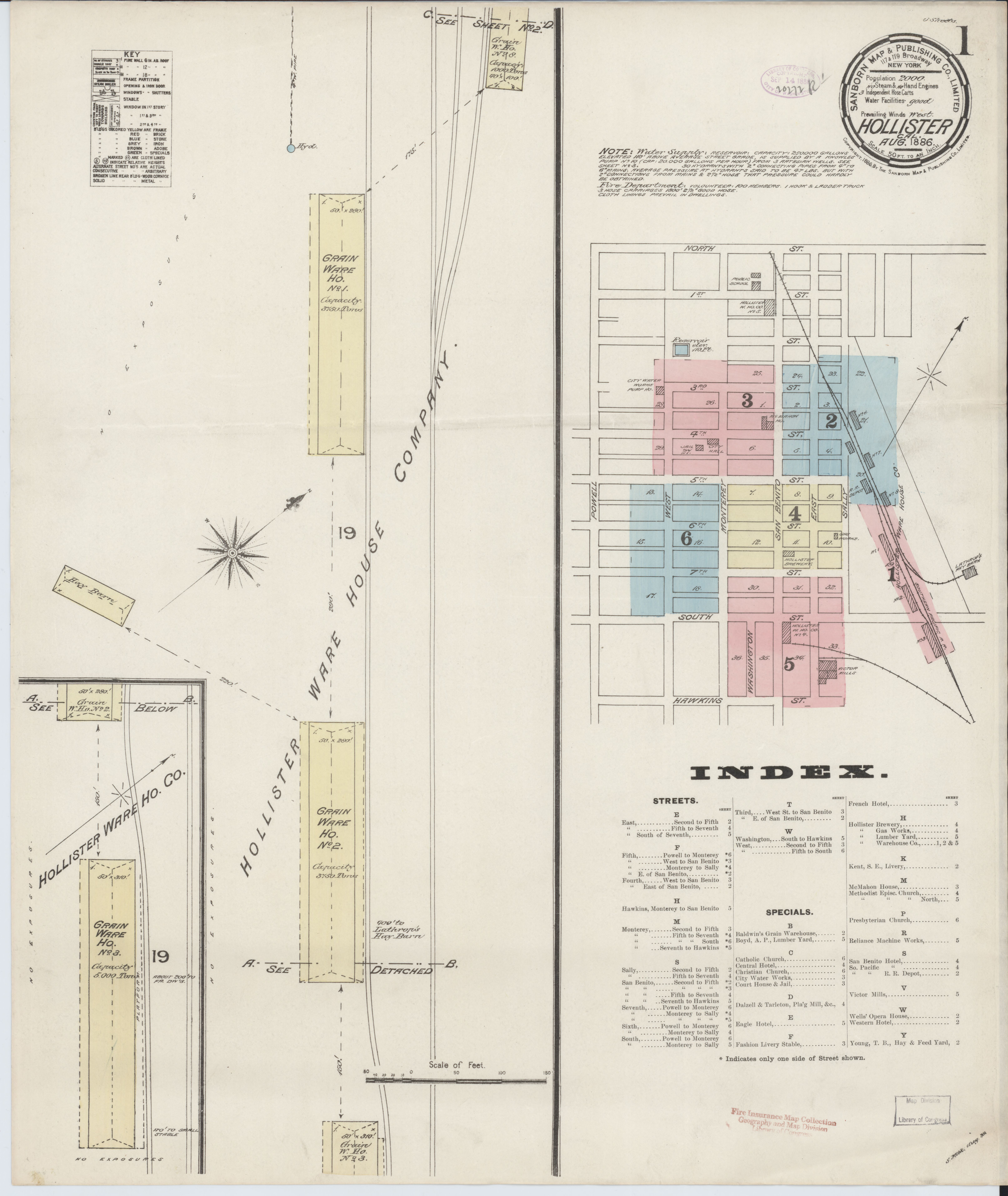 File Sanborn Fire Insurance Map From Hollister San Benito County