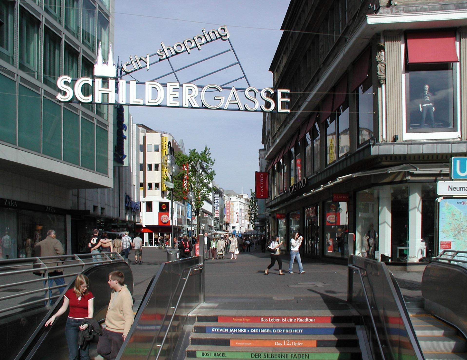 Die Schildergasse ist Kölns meistbesuchte Einkaufsstraße