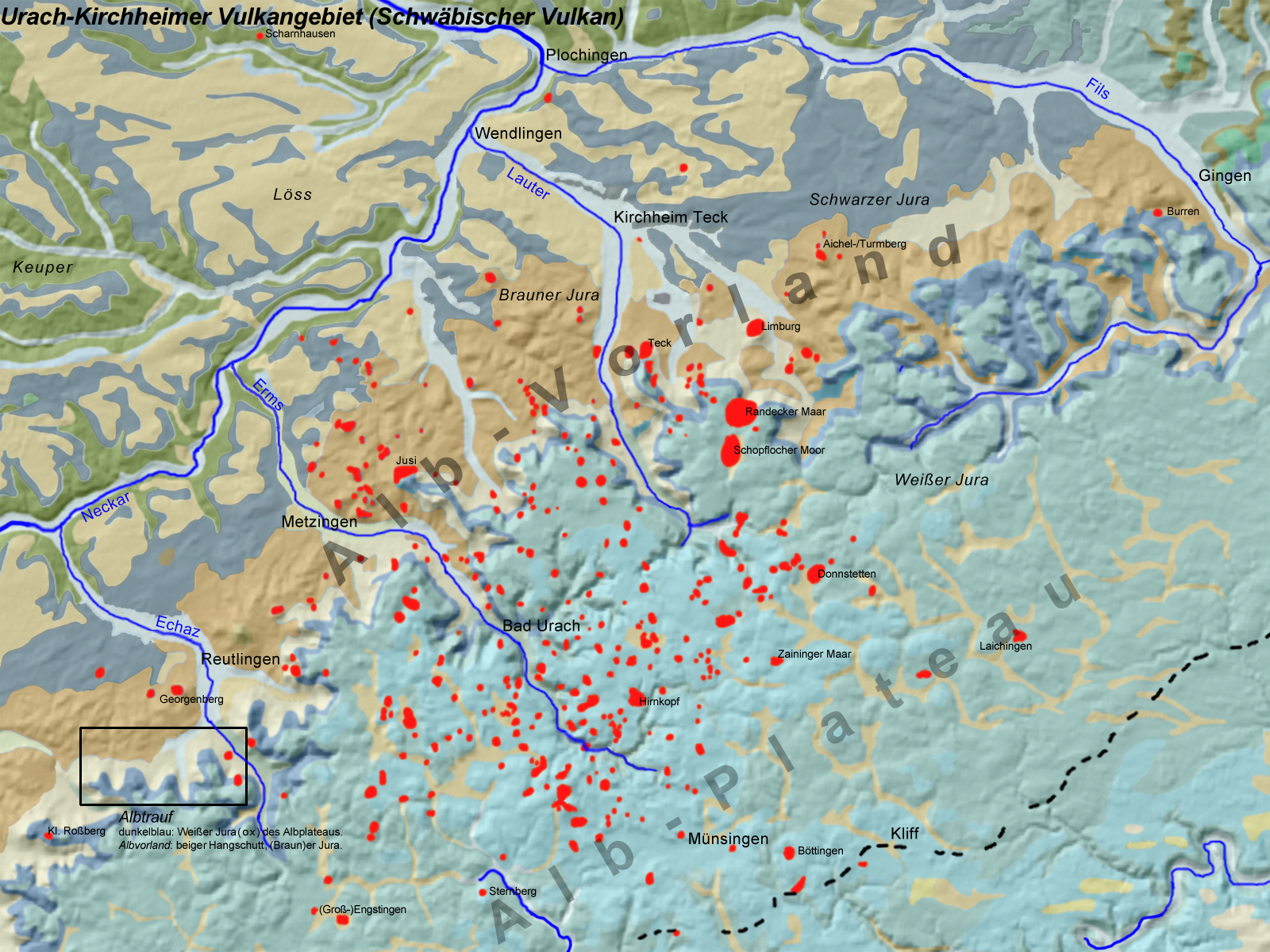 Vulkane Der Erde Karte.Schwäbischer Vulkan Wikipedia