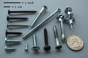 Screws come in a variety of shapes and sizes f...
