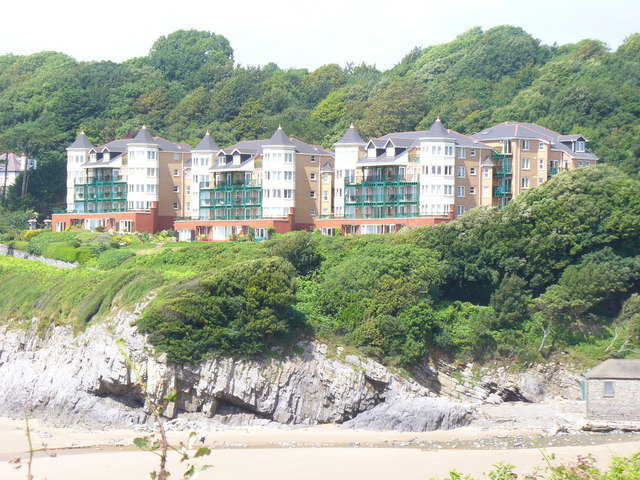 Seaside Development at Caswell Bay - geograph.org.uk - 1480393