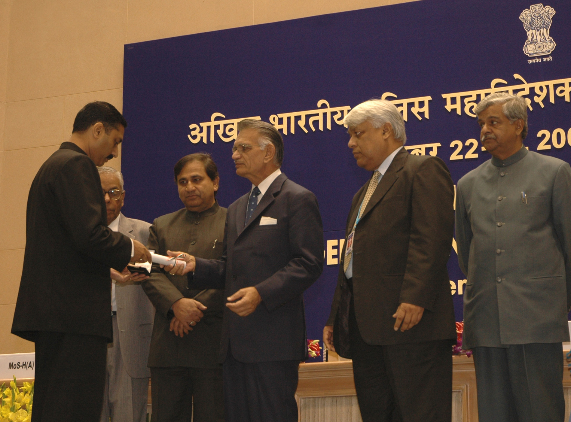 File:Shivraj V  Patil gave away the Police Medals for