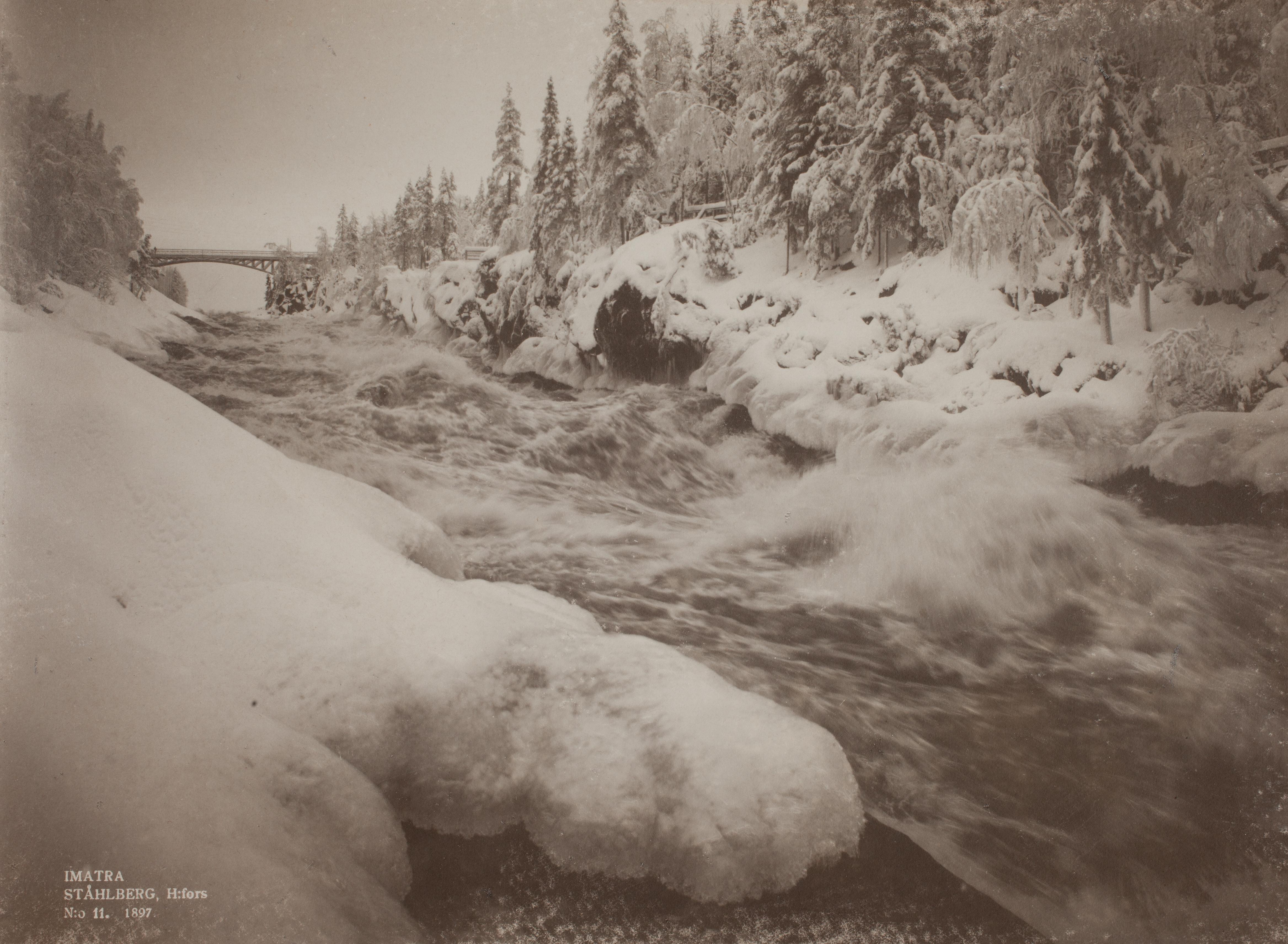 Corredeiras de Imatra no inverno de 1897