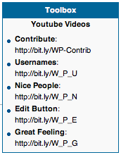 English: Screenshot of the social media toolbo...