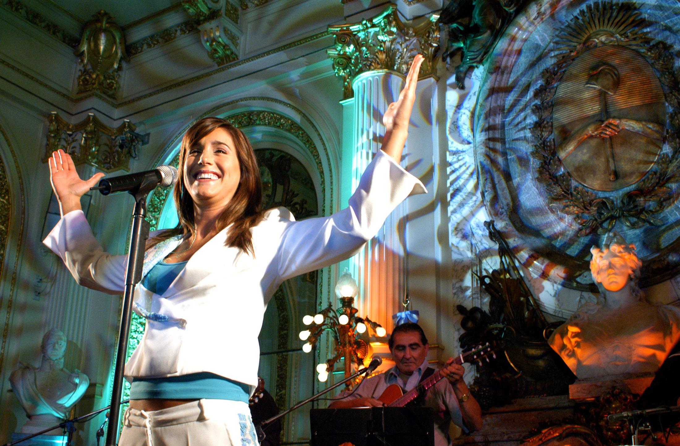 Soledad en el Salón Blanco de la Casa Rosada (2006).