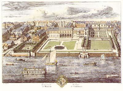 The original Somerset House in 1722 Somerset House by Kip 1722.JPG