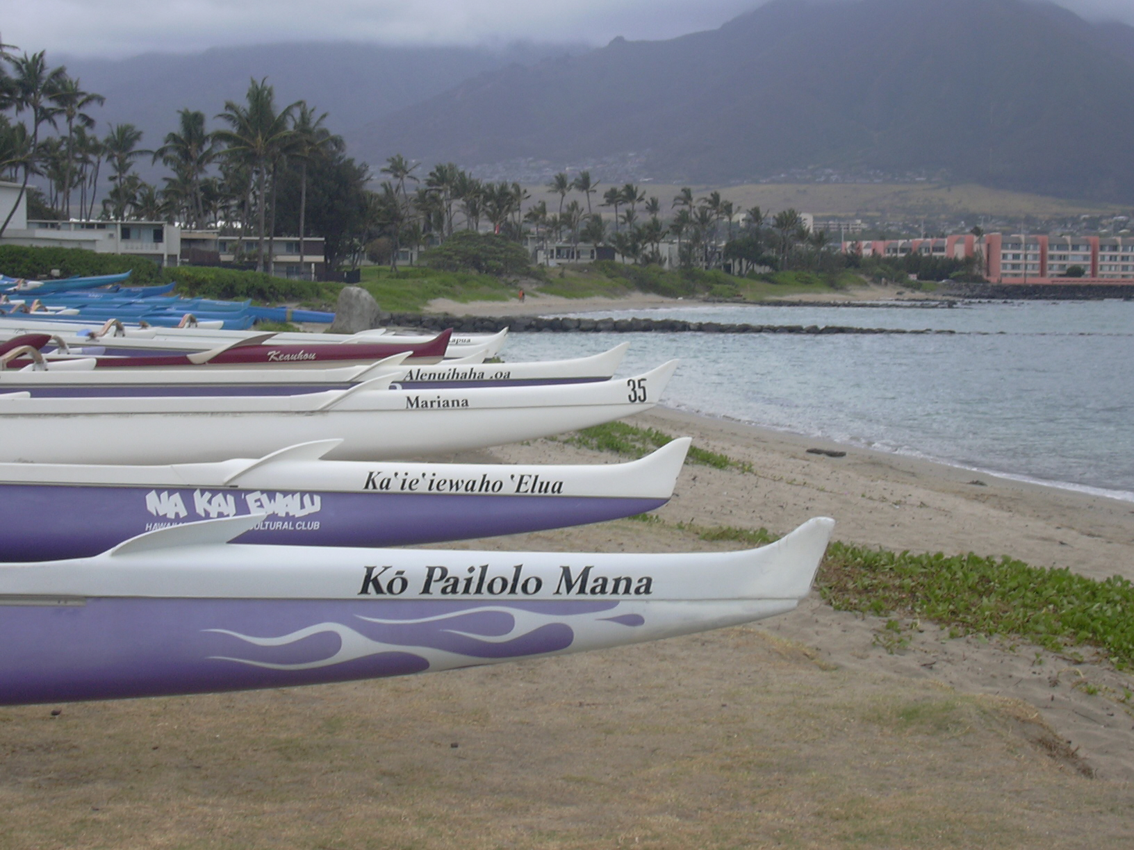 Canoes at Kahului Harbor