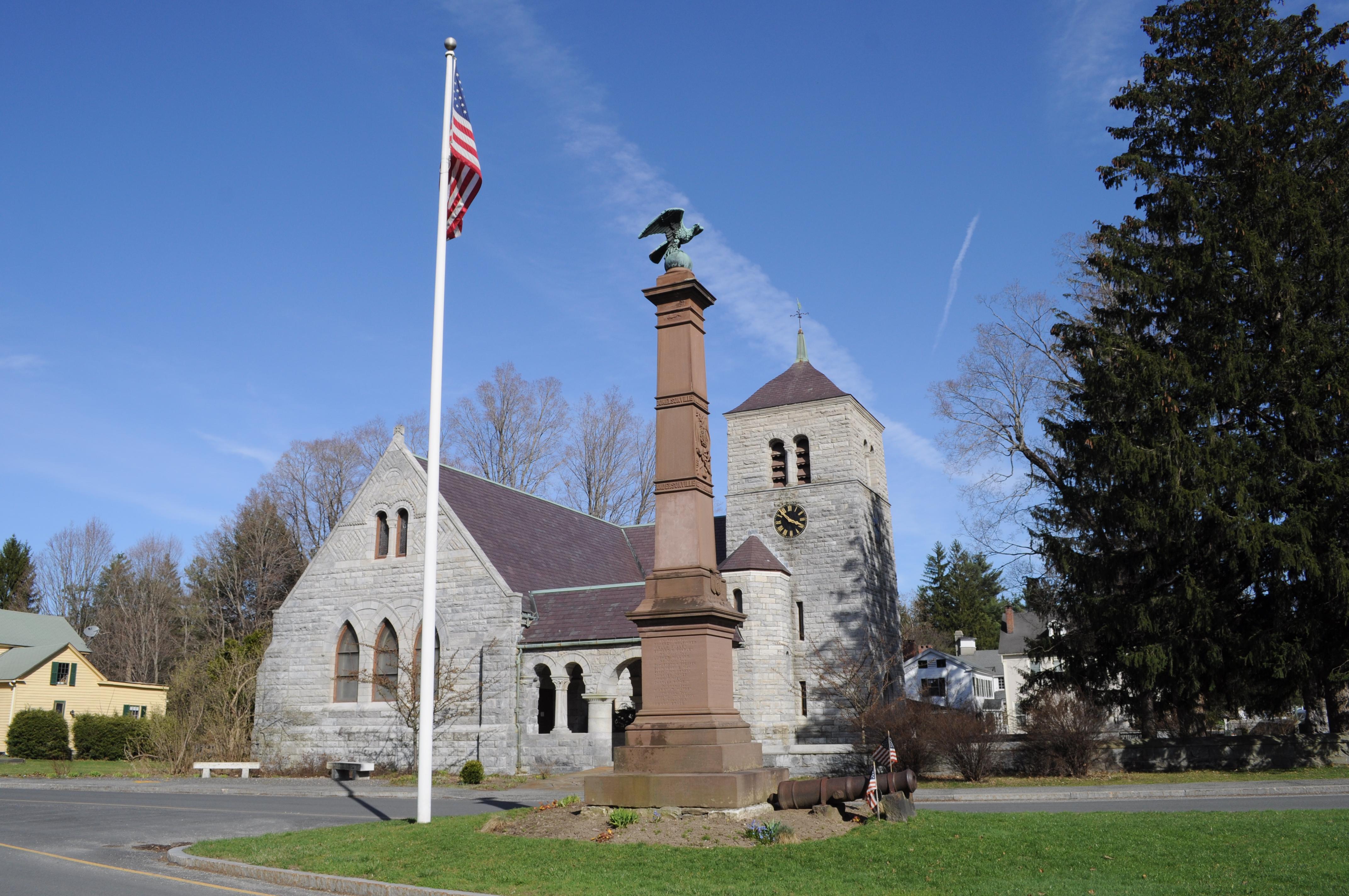 File:Stockbridge, MA - Civil War Memorial & St. Paul's ...