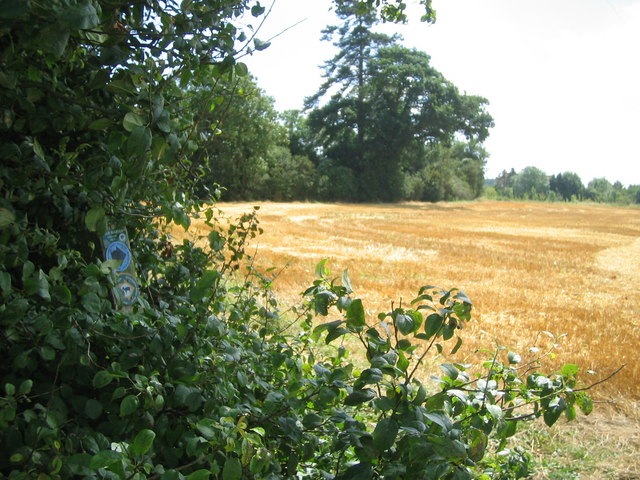Sweetbrier Farm from Greensand Ridge Walk footpath - geograph.org.uk - 515870