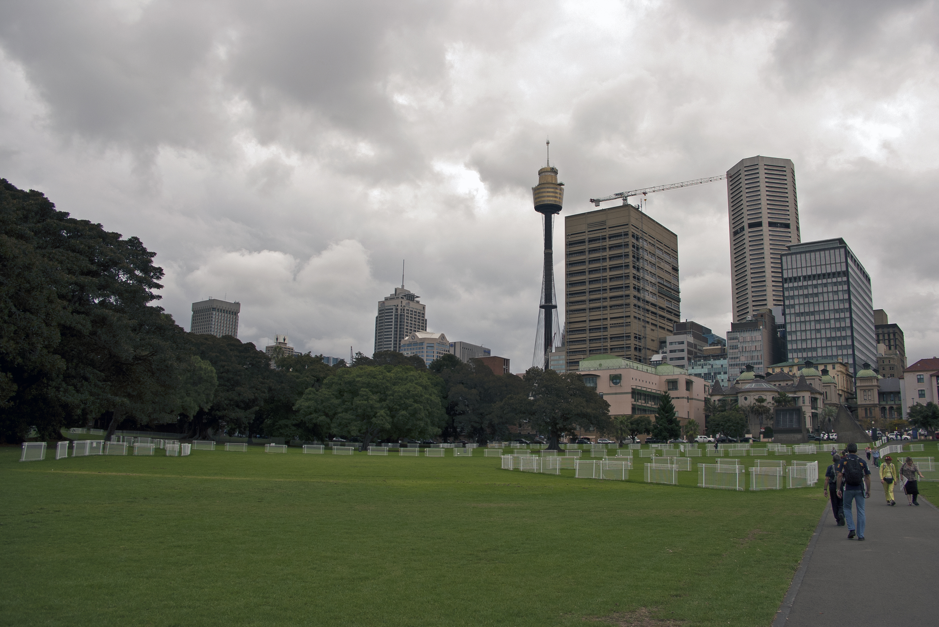 file sydney skyline from the domain 1 jpg wikimedia. Black Bedroom Furniture Sets. Home Design Ideas