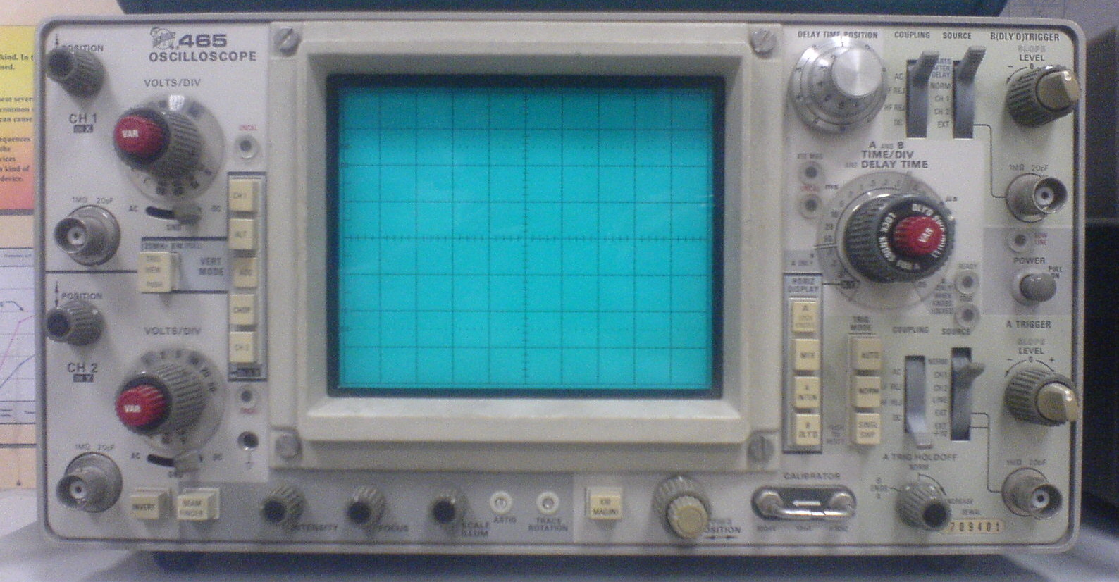 Tektronix 465 O-Scope, commonly available online for a fair price