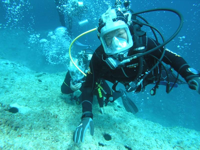 Tessa Gelisio durante una delle sue tante immersioni