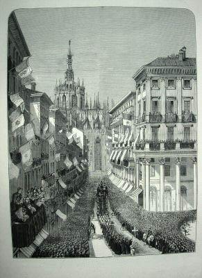Похороны Мандзони в Милане