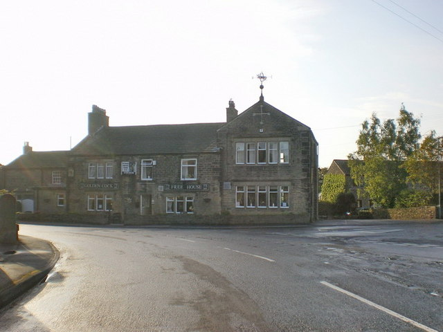 The Golden Cock, The Village, Farnley Tyas - geograph.org.uk - 1466048