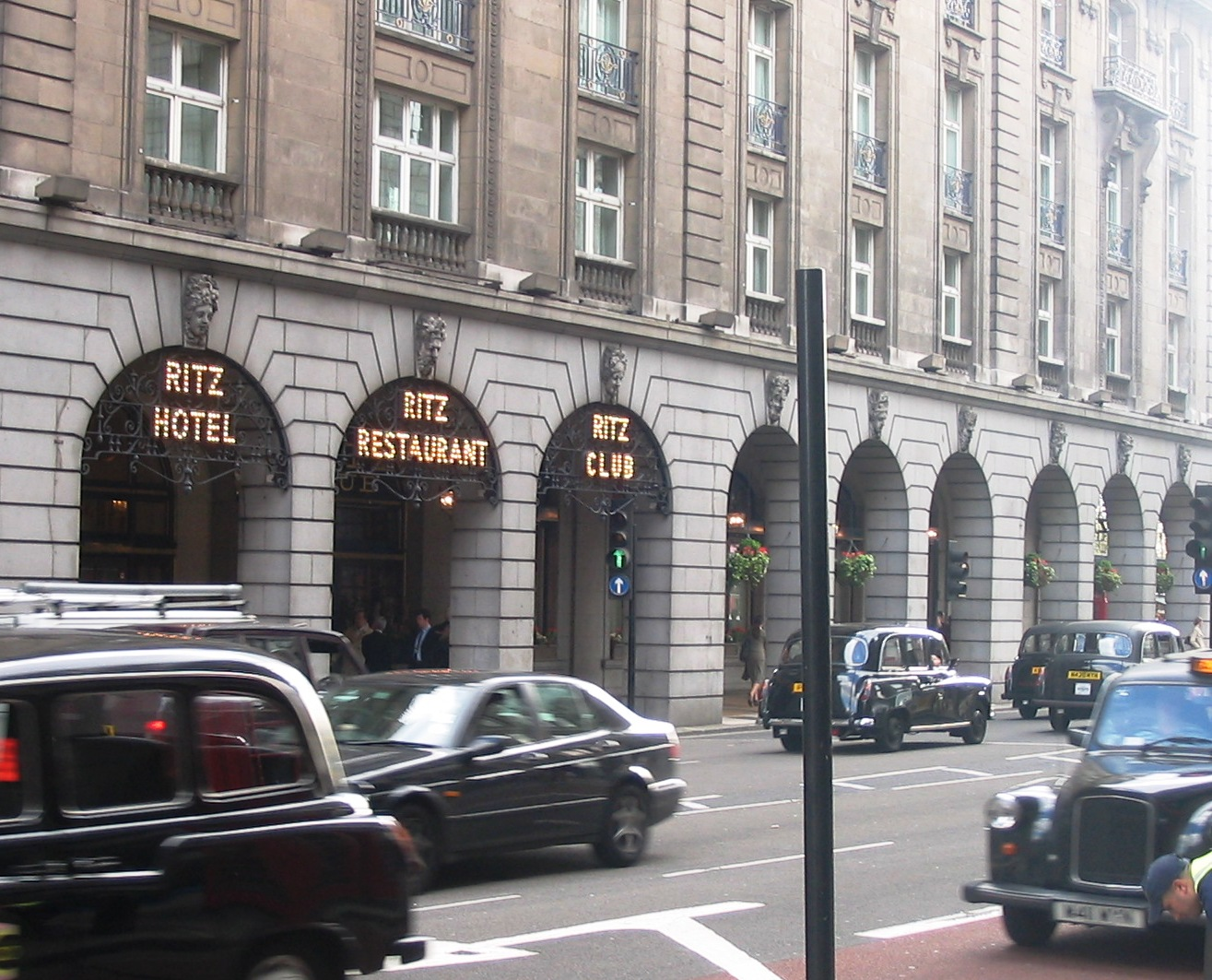 The Ritz Arcade on Piccadilly