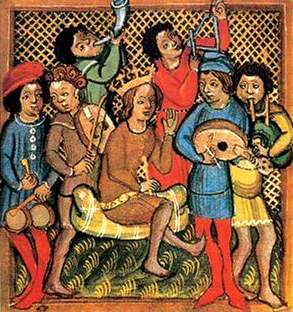 Troubadour ensembles are one example of an excellent music history topic. (Credit: Wikielwikingo)