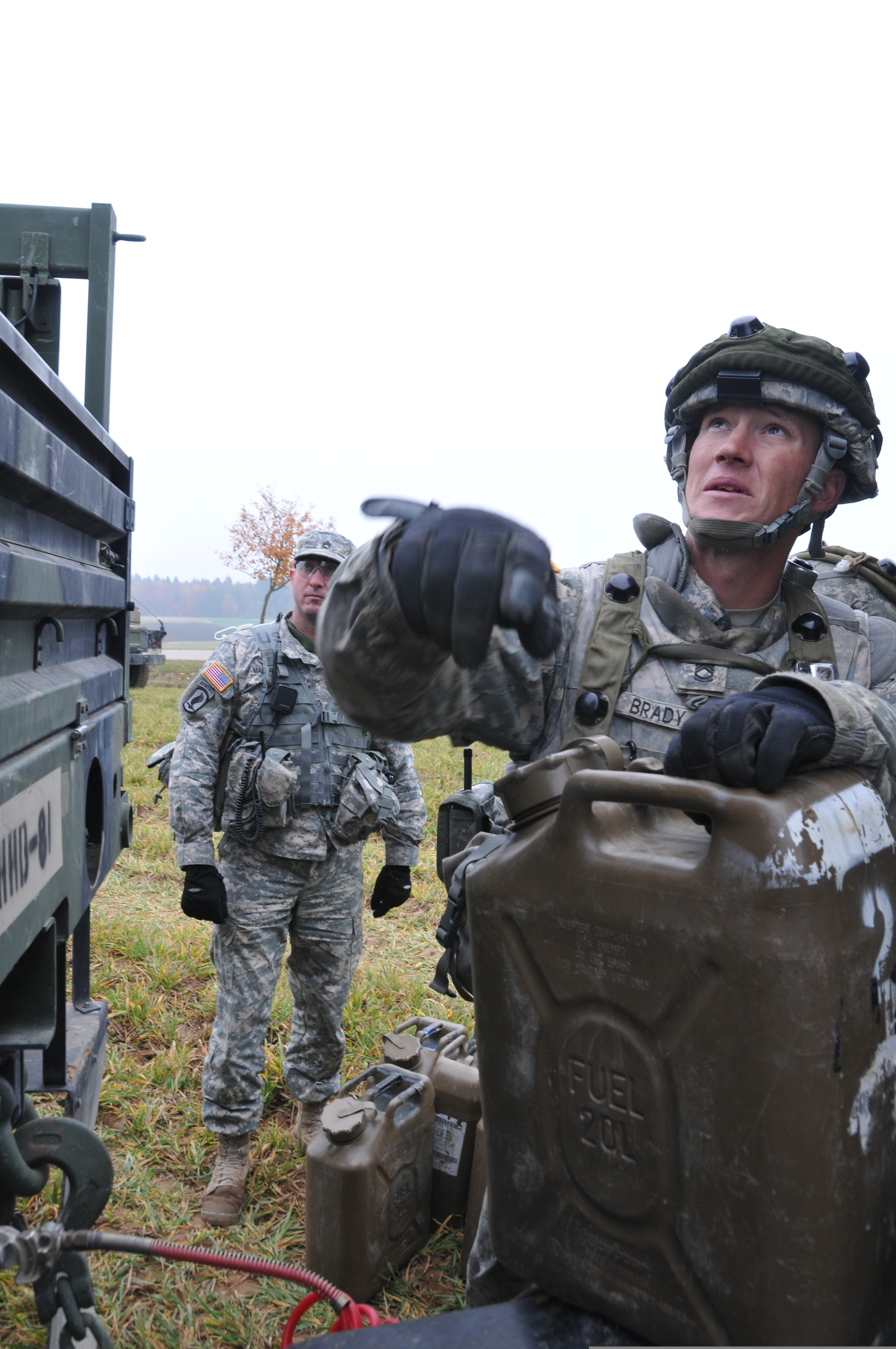 File:U S  Army Sgt  1st Class Benjamin Brady, right, with