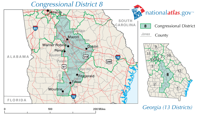 Map Of Georgia Voting Districts.File United States House Of Representatives Georgia District 08