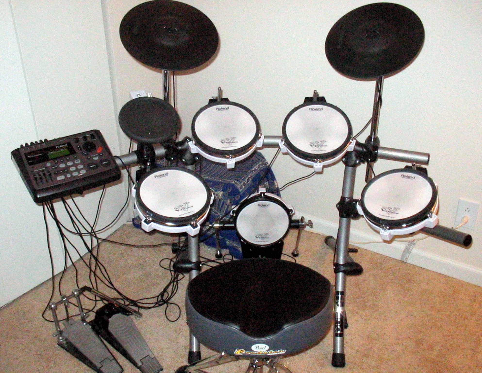 Image result for 3 types of electronic drum kit