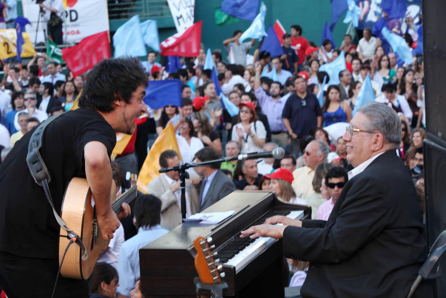 Ángel Parra con Valentín Trujillo en 2009.