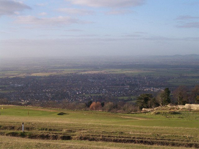 View of Bishop's Cleeve from Cleeve Hill - geograph.org.uk - 93058