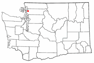 Location of Edison, Washington