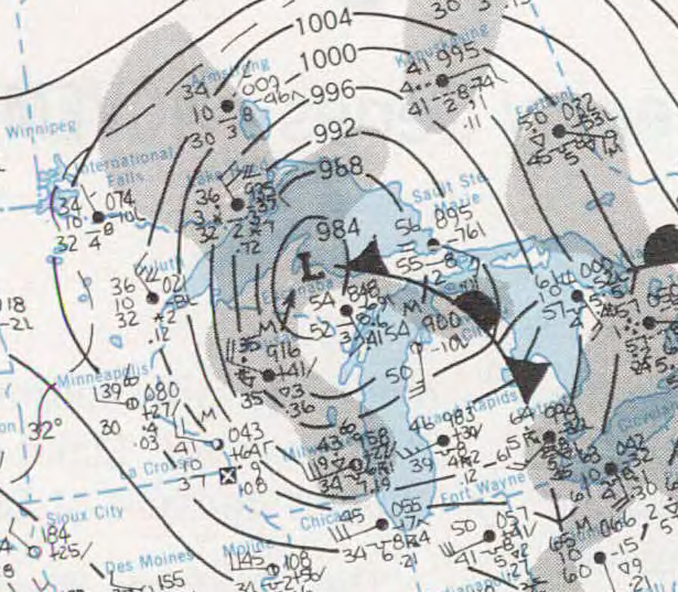 Up To Date Weather Map.File Weather Map From November 10 1975 Edmund Fitzgerald Storm Png