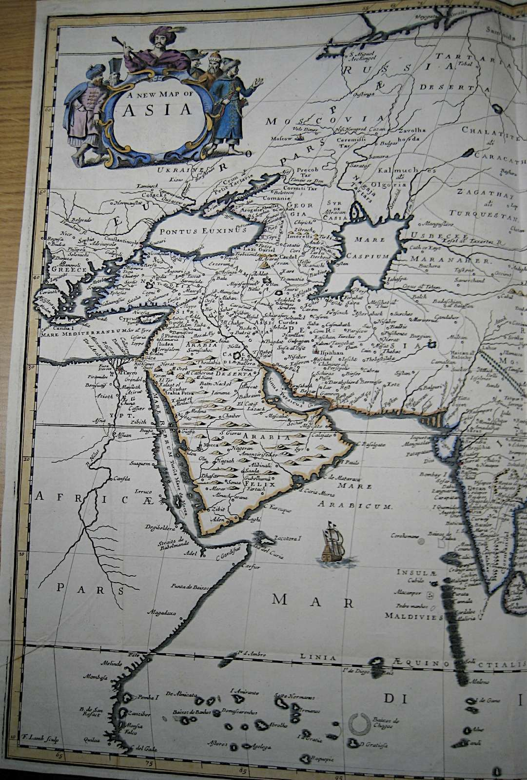 London 1600 Map.File A New Map Of Asia By John Ogilby From His Asia The First