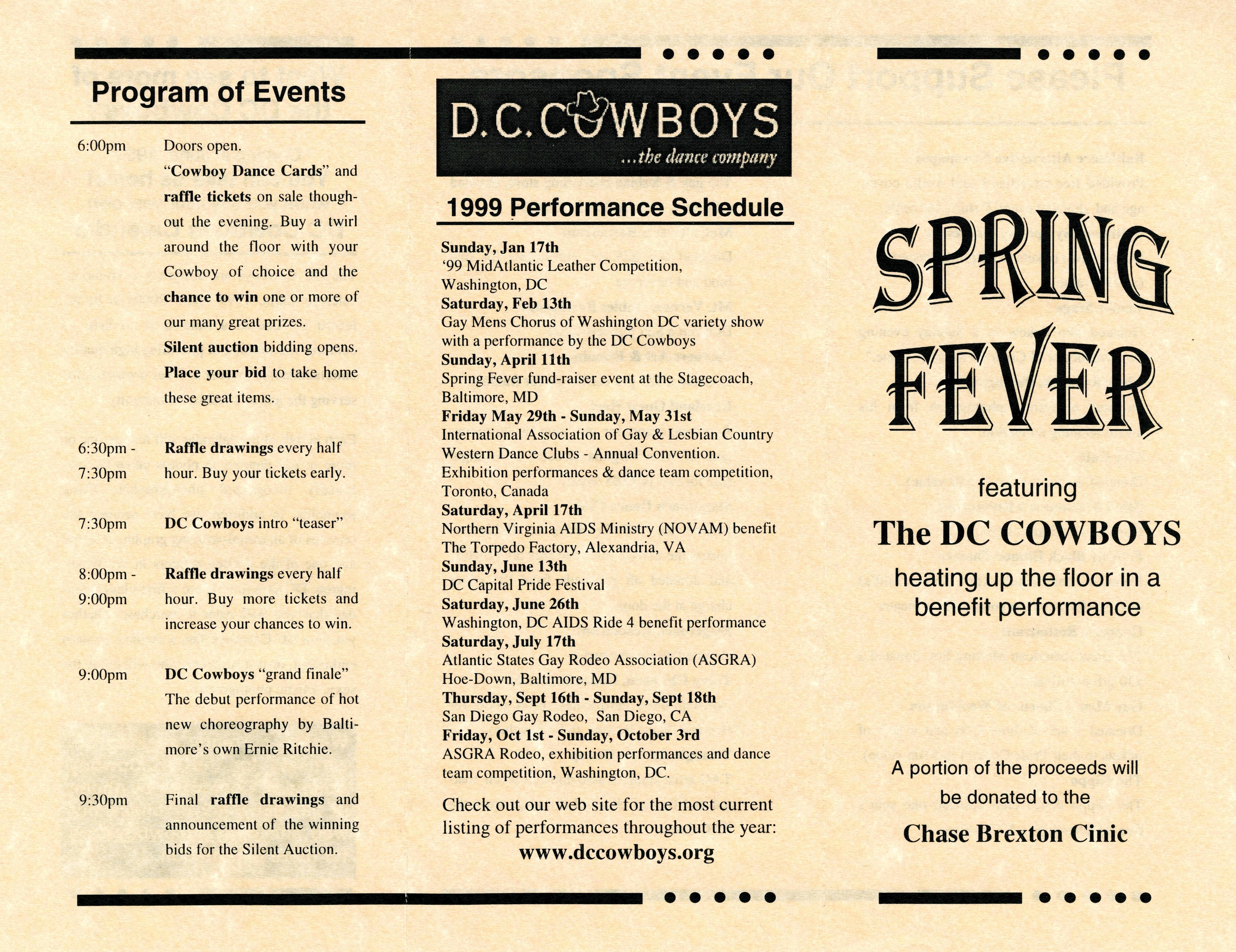 file spring fever dc cowboys dance company pamphlet