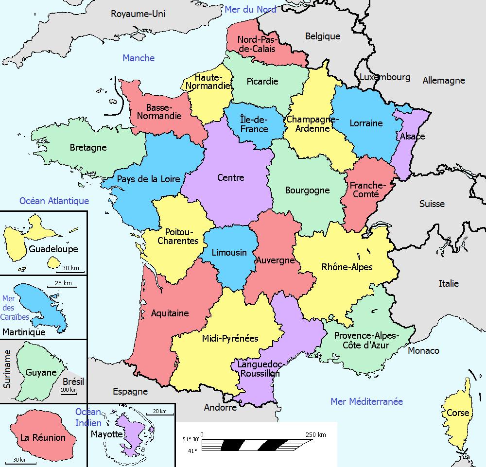 carte france region