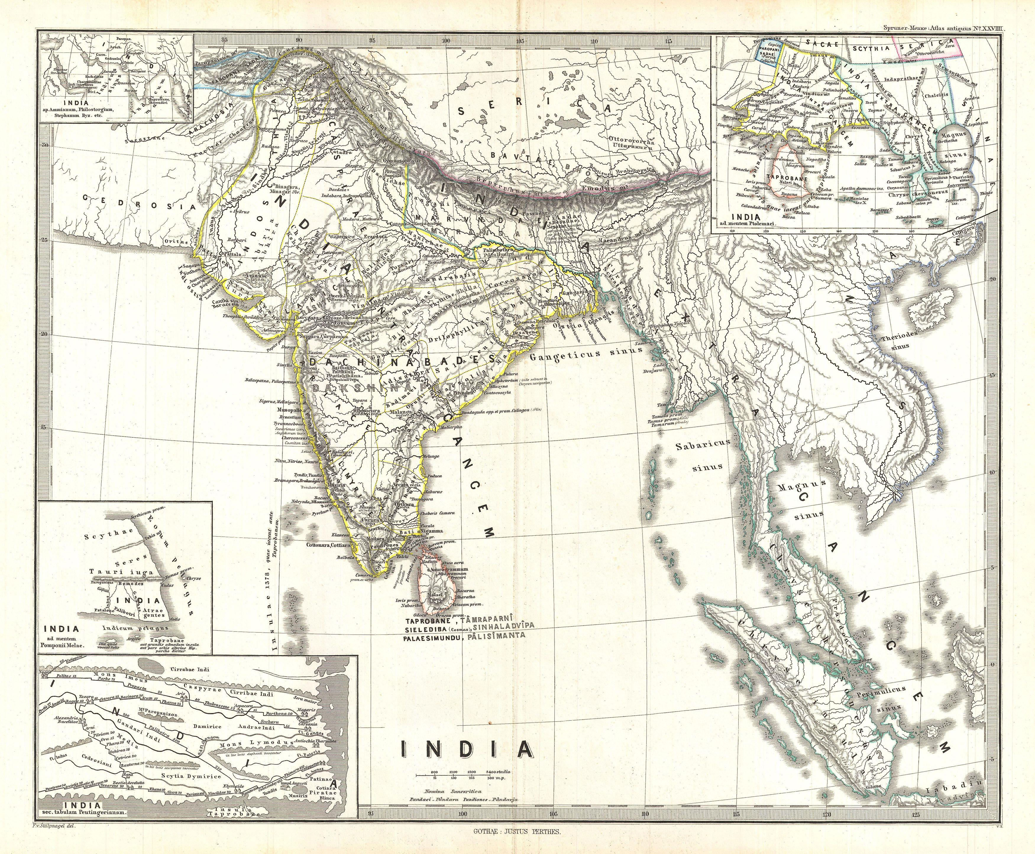 India In Asia Map.File 1865 Spruner Map Of India And Southeast Asia Geographicus