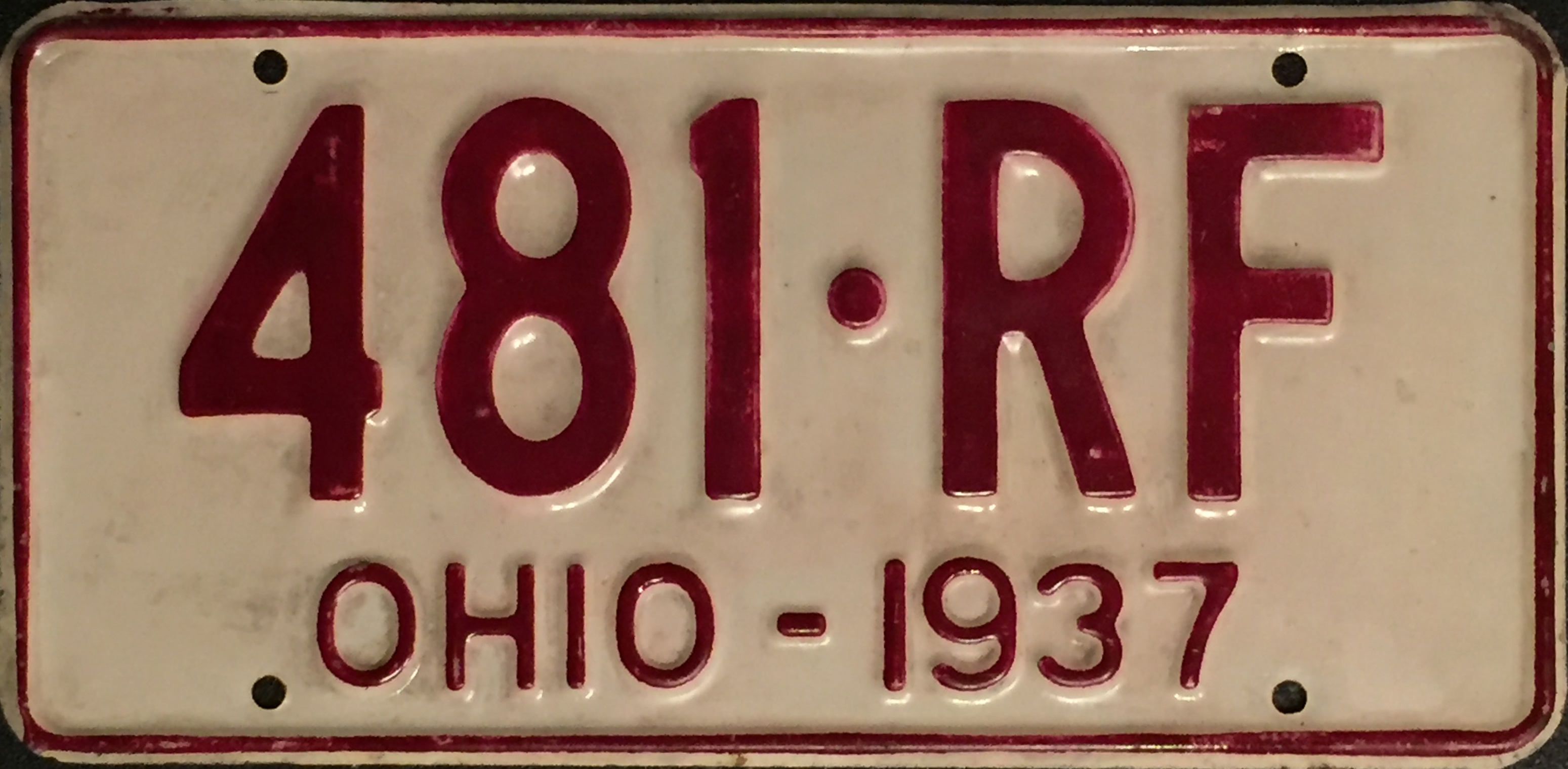 File:1937 Ohio license plate.JPG - Wikimedia Commons
