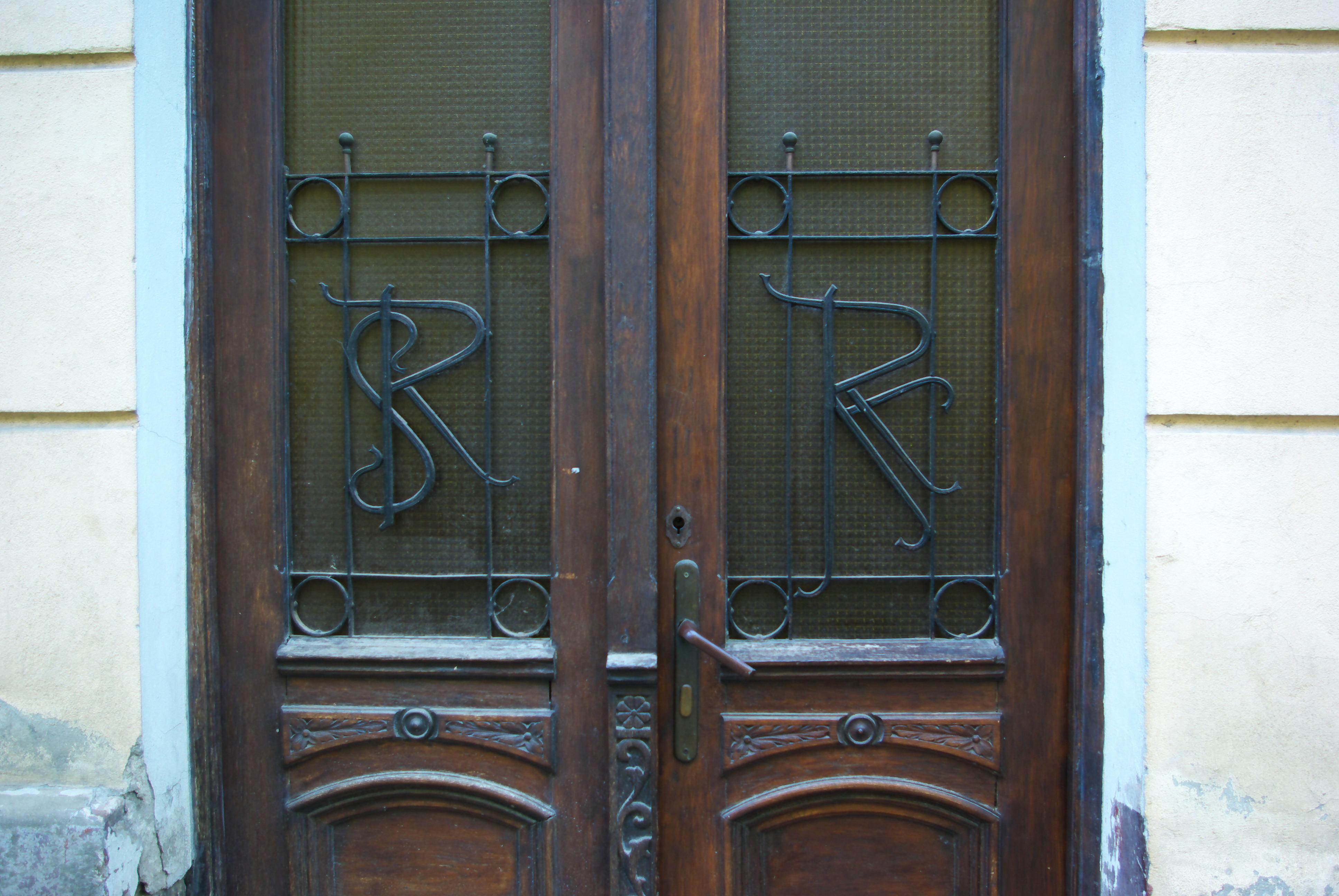 File:4 Mickiewicza Street In Sanok, Side Door 4, Initials Of Salomon And