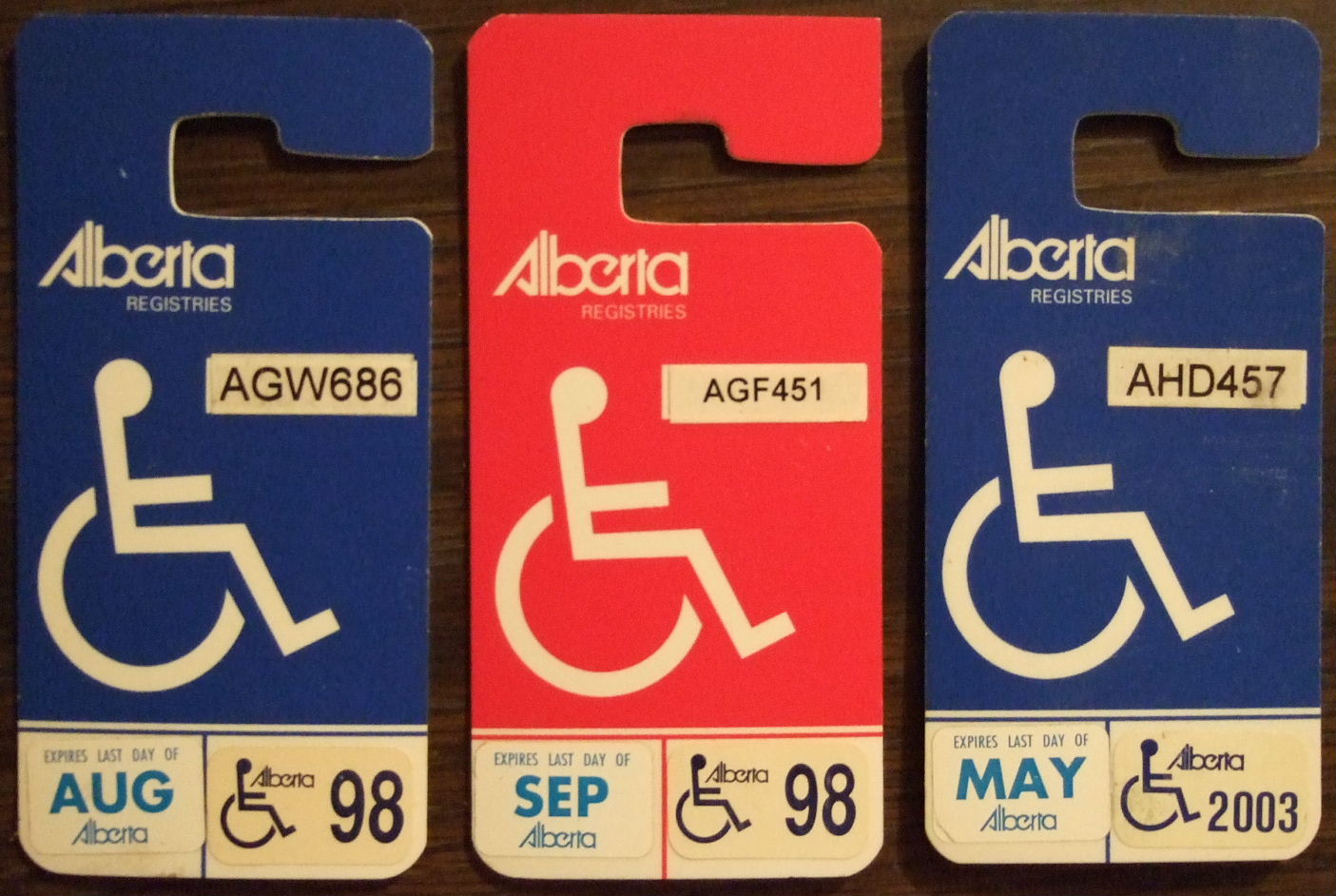 File alberta handicap placards with stickers 2049030411 for Alberta motor vehicle registration